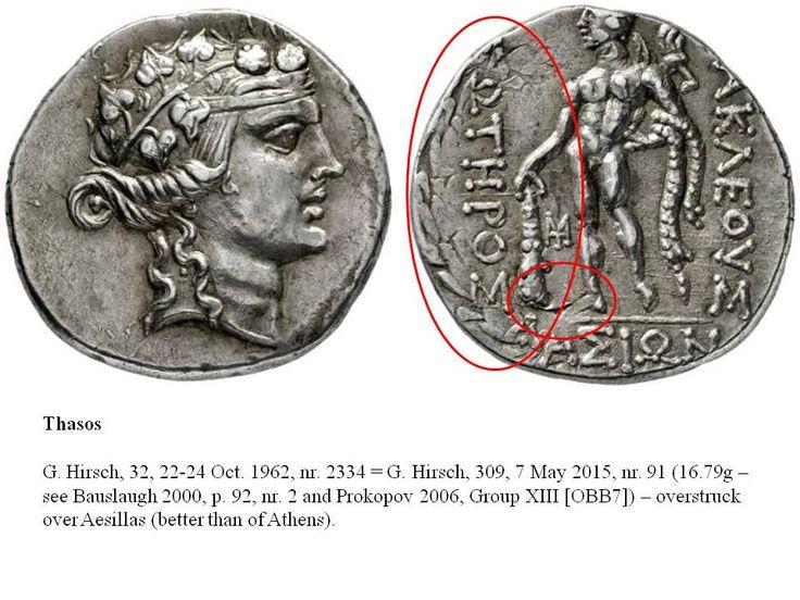 Greek Overstrike Thrace Thasos over Aesillas