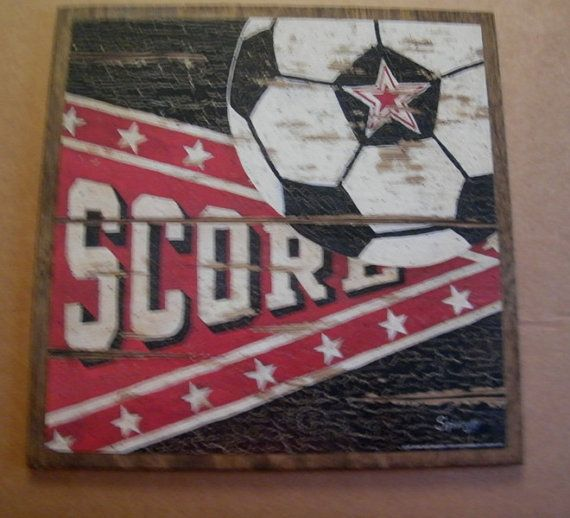 SOCCER Score Ball Sports Art Wall Room Sign by carolalden on Etsy, $8.99