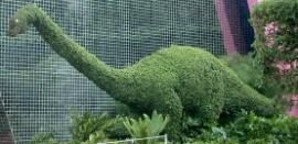 A topiary dinosaur at Epcot