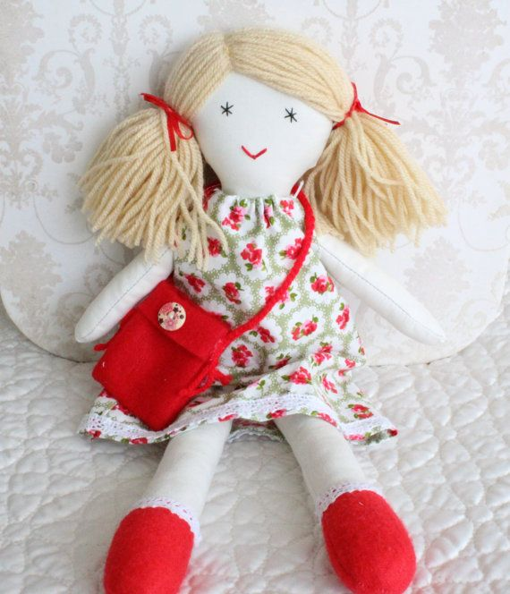 Ragdoll fabric cloth doll by Jamberoon on Etsy
