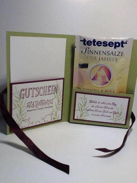 Verpackung für Wellness-Gutschein                                                                                                                                                                                 Mehr