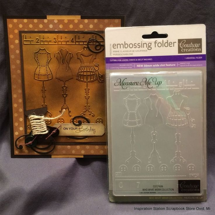 MEASURE ME UP by COUTURE CREATIONS Embossing Folder CO723656 Sewing dress form #CoutureCreations