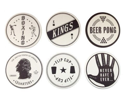 DRINKING GAMES COASTERS - $15.00