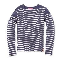 Navy stribet økologisk trøje fra Knowledge Cotton Apparel. Køb online nu hos Emanuels. Altid hurtig og billig levering. Økologisk modetøj til mænd og kvinder, bæredygtigt dansk design og økologisk pleje hos Emanuels