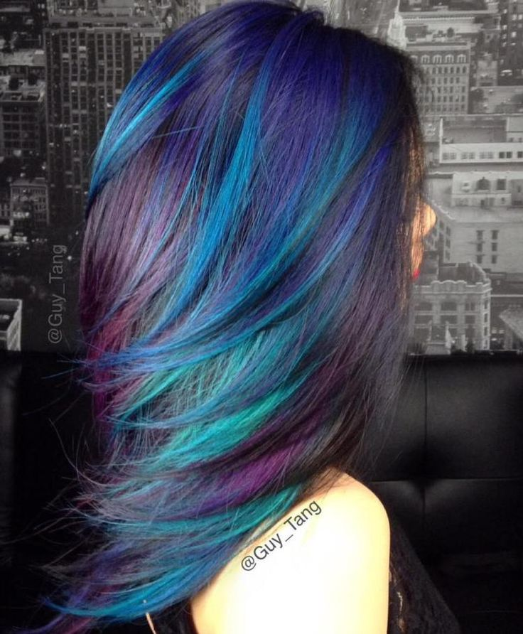 Blue, Teal And Purple Highlights