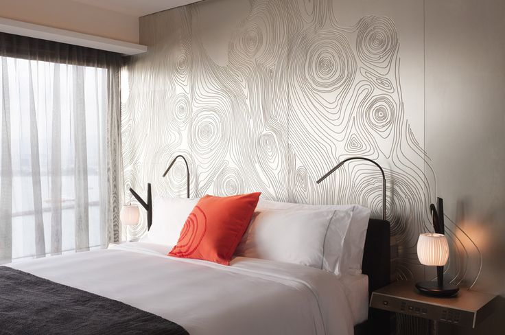 Love everything about this page. From the W Hotel Hong Kong. Especially love this wall treatment