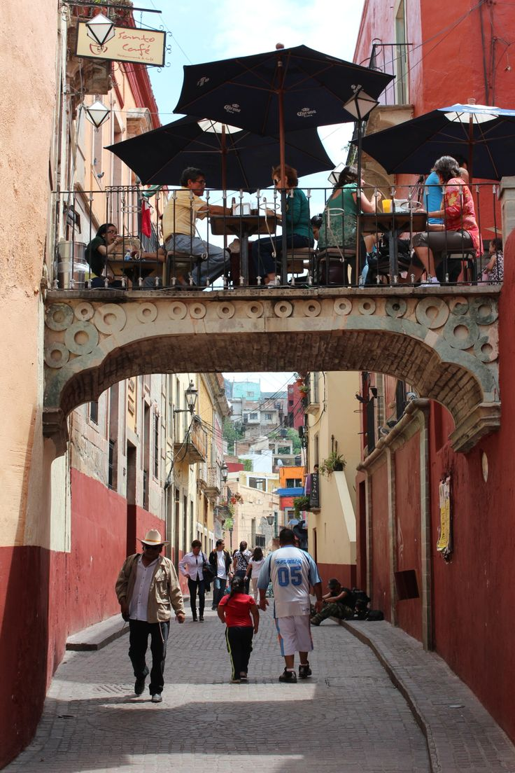 Guanajuato, Mexico. Love the unexpected twists in architecture defined by human  relationships