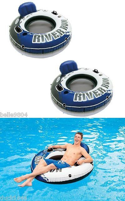 Inflatable Floats and Tubes 79801: 2-Pack River Run I Inflatable Lake River Pool Lounge Float Floating Tubes - Pair -> BUY IT NOW ONLY: $38 on eBay!