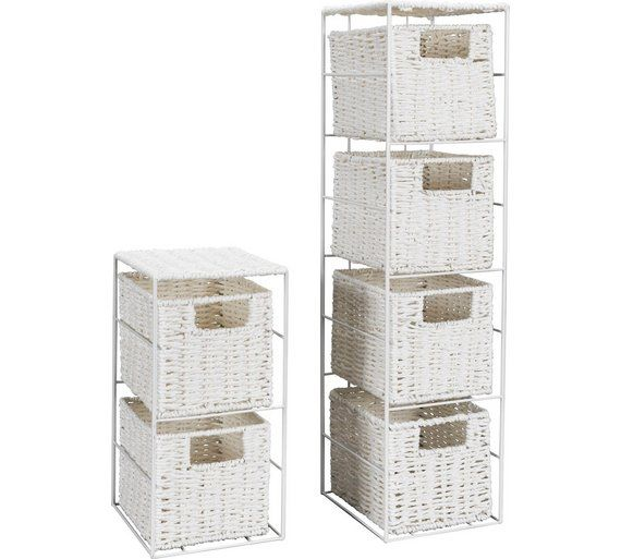 Buy HOME 2 and 3 Drawer Storage Towers - White at Argos.co.uk, visit Argos.co.uk to shop online for Bathroom shelves and storage units, Bathroom furniture, Home and garden