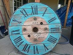 re purposed cable spools, crafts, repurposing upcycling