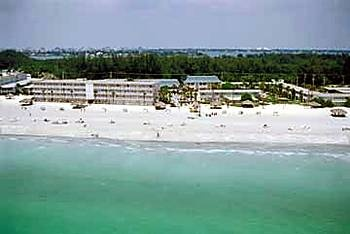 Private beach of the Helmsley Sandcastle Resort on Lido Key, host to the Florida wide Sister Cities State convention in 2007