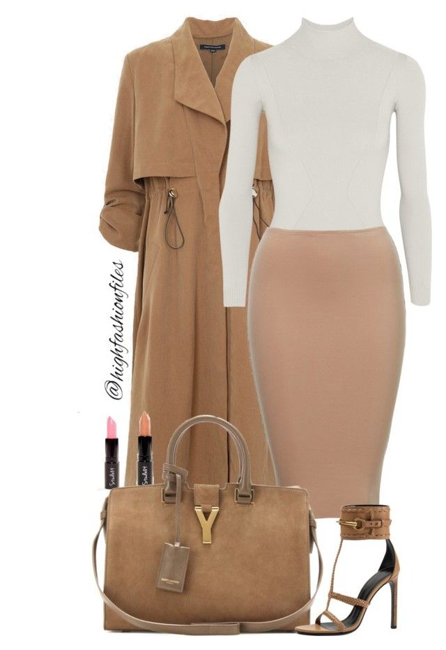 """Simple"" by highfashionfiles ❤ liked on Polyvore featuring French Connection, Body Editions, Yves Saint Laurent, Gucci and Oscar de la Renta"