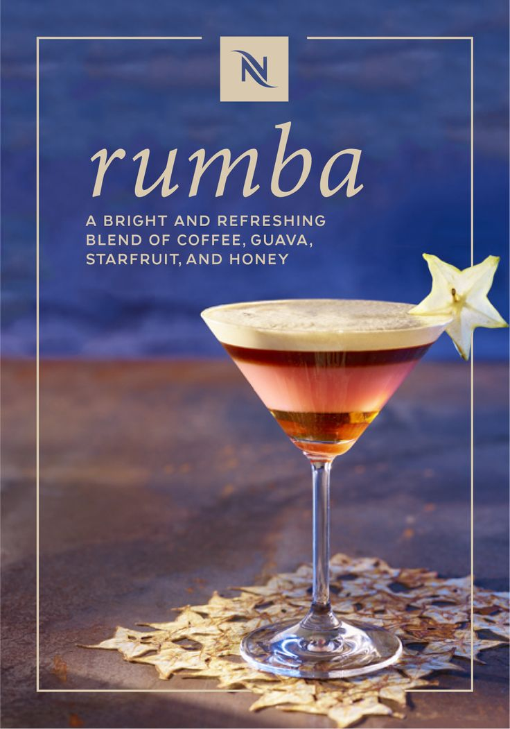 The exotic taste of this Rumba coffee recipe from Nespresso will wash away all of your troubles with just one sip. Let the tropical taste of guava juice and starfruit wash over you as you savor this sweet drink. Plus, with the addition of Cosi Grand Cru and golden honey, this tasty beverage is a delicious way to enjoy your next Nespresso moment.
