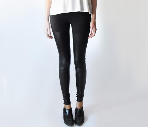 leather panel leggings~