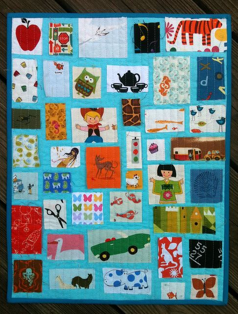 I-Spy Ticker Tape Quilt for QLD Flood Appeal Auction by katie @ swim, bike, quilt!, via Flickr