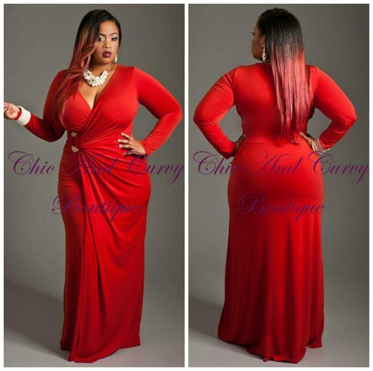 Orange wrap dress plus size