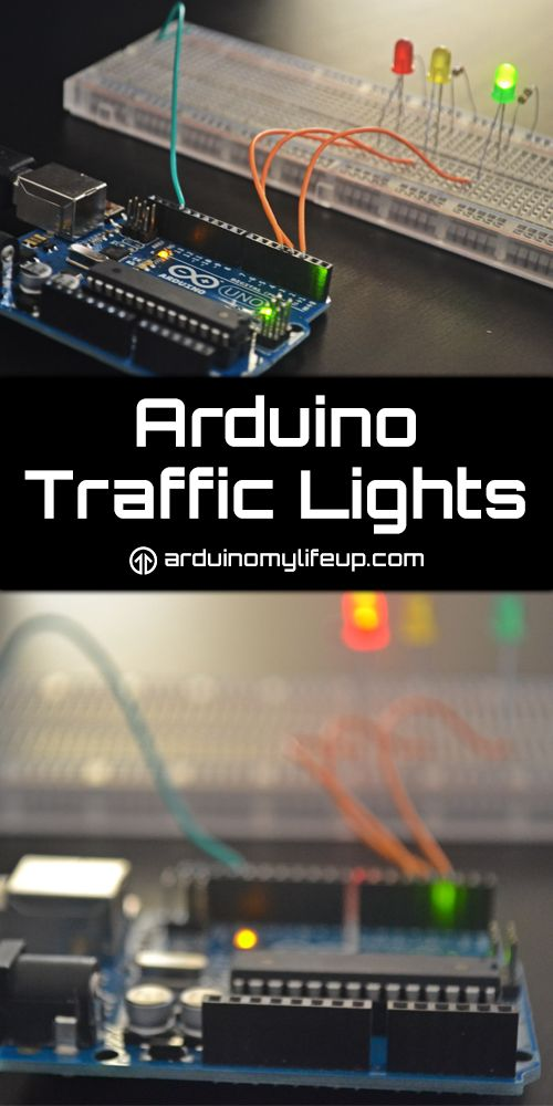 A simple arduino traffic light project that is great for