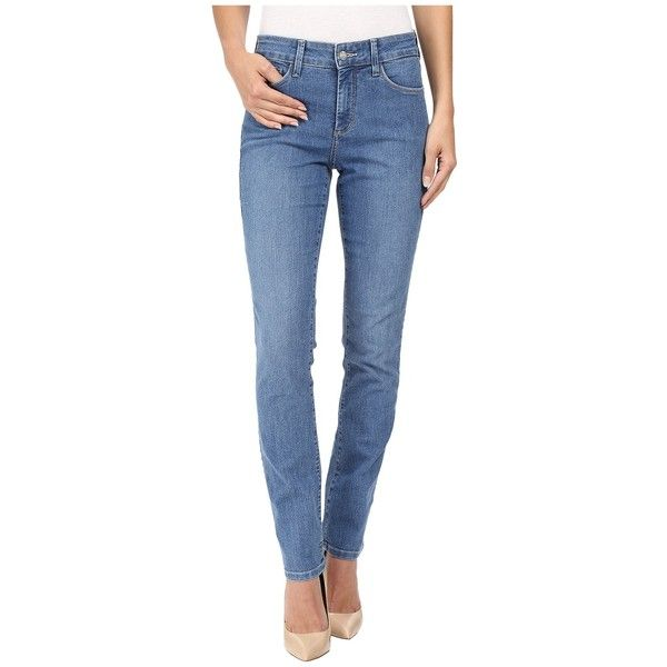 NYDJ Sheri Skinny in Modesto (Modesto) Women's Jeans ($114) ❤ liked on Polyvore featuring jeans, nydj jeans, zipper skinny jeans, skinny fit jeans, nydj and mid rise skinny jeans
