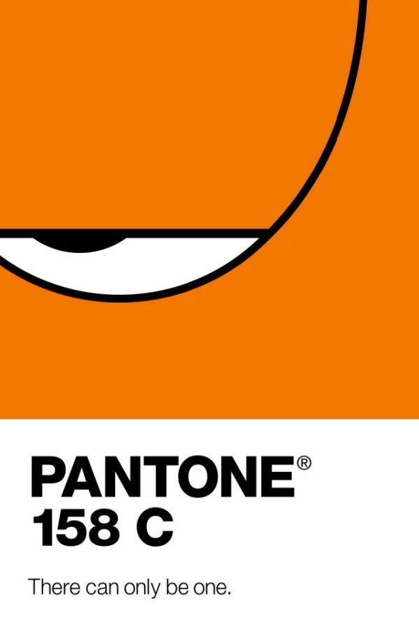 Famous -Characters-in-Minimalistic-Pantone-Posters- 4 -- me sleepy garfield