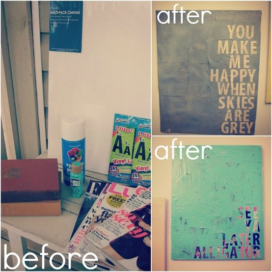 DIY Canvas Quotes @ Do It Yourself Remodeling Ideas