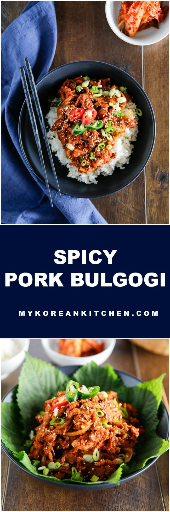 Spicy Pork Bulgogi Rice Bowl | MyKoreanKitchen.com