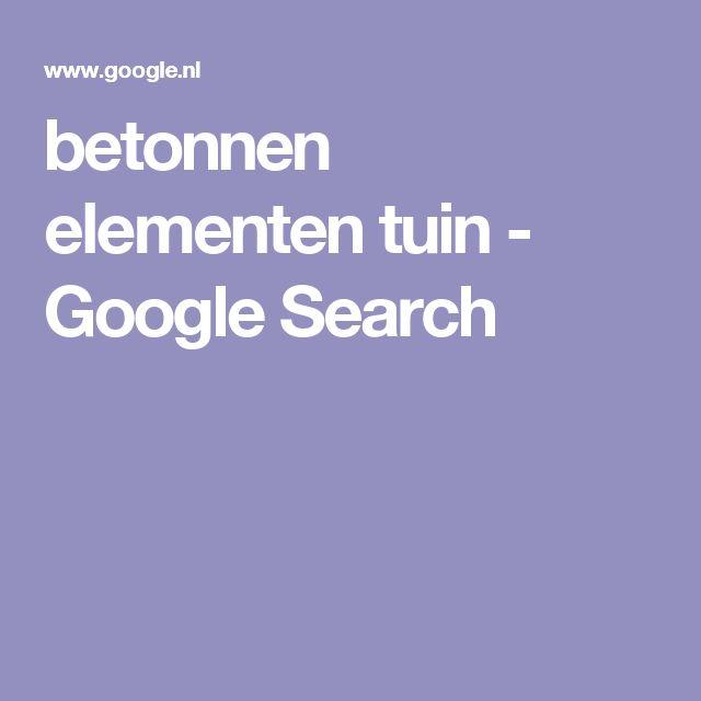 betonnen elementen tuin - Google Search
