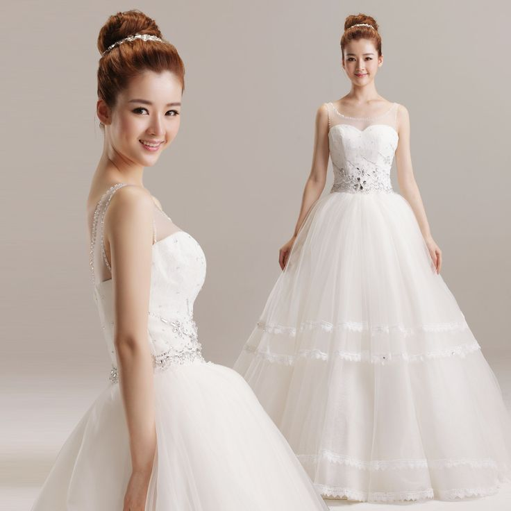 Princess with illusion round neck lace trim wedding dress,Style No.0bg02454,US$368.66   Read More:    http://www.wholesale-lucky.com/index.php?r=princess-with-illusion-round-neck-lace-trim-wedding-dress.html