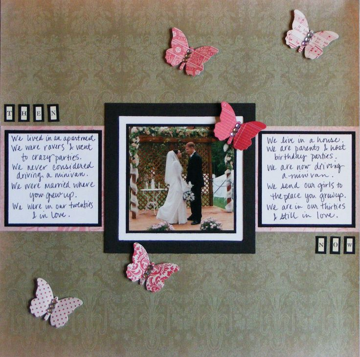 anniversary ideas with pictures - wedding scrapbook page ideas