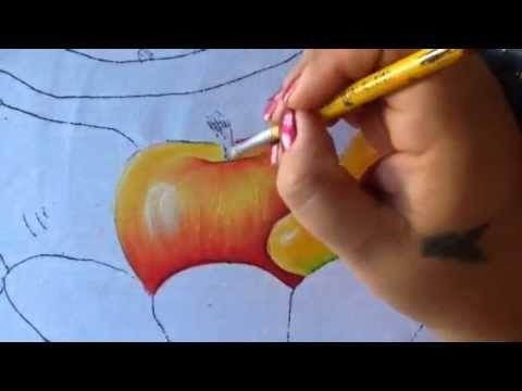 Pintura en tela frutero # 3 con cony - YouTube