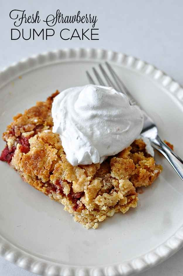 Strawberry / 19 Deliciously Easy Dump Cake Recipes