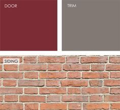 trim color for orange brick houses | cooler cranberry color would look great against the red-orange brick ...