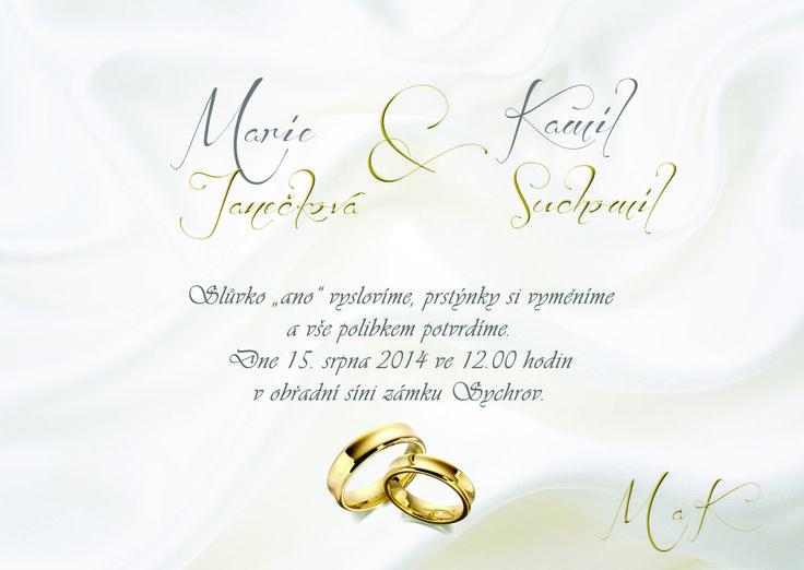 svatební oznámení od LarisDesign http://svatba-oznameni.cz/