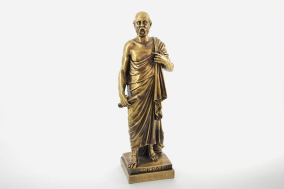 Socrates statue / Bronze plated polyester by CraftsAndMetal