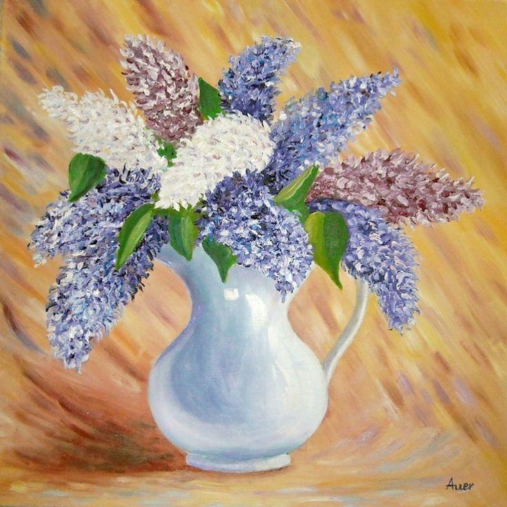 Pictura Liliac in vaza