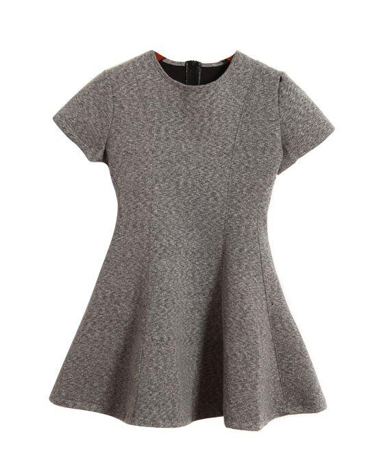 Flouncing Slim Waist Dress @chicnova