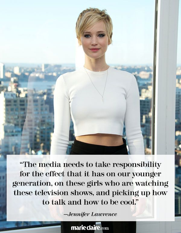 Best Jennifer Lawrence Quotes - Jennifer Lawrence News - Marie Claire