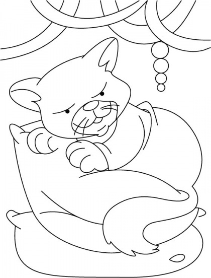 domestic cat coloring pages - photo#10