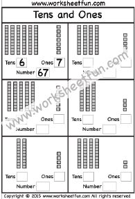 Tens and Ones – 5 Worksheets
