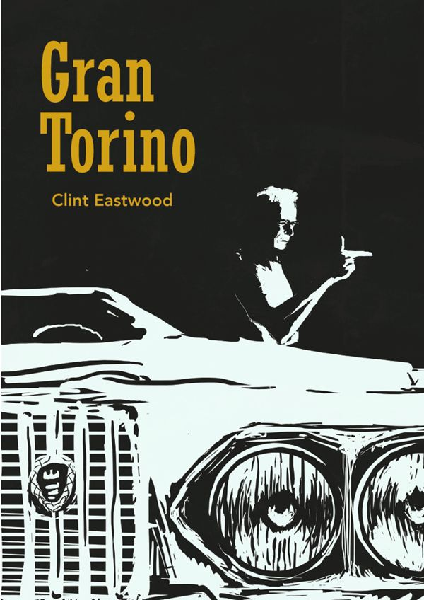 Gran Torino movie poster on Behance                                                                                                                                                      Más