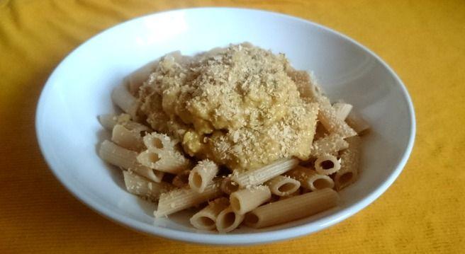 pasta met veganistische 'kaassaus'