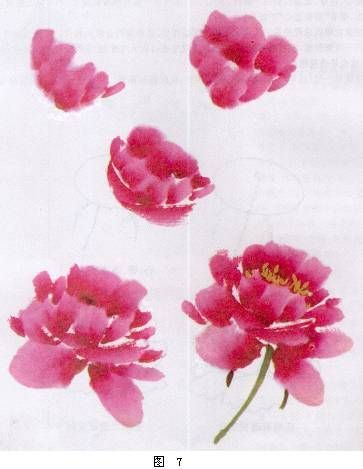 Image result for chinese brushstroke peony