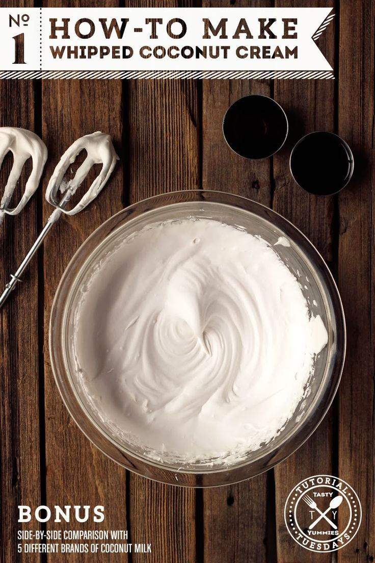 How-to make whipped coconut cream