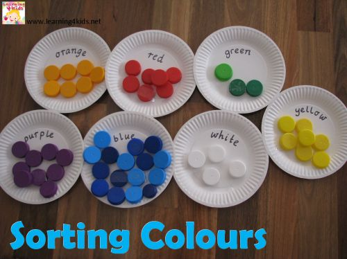 colour activities for kids sorting colours - Colour Games For Preschoolers