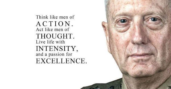 """Major Victor Bravo @Conservatexian 20m20 minutes ago  News post: """"'Mad Dog … is back': Sec. Mattis gives a shout out to the Intelligence Community in message to DoD emp…"""