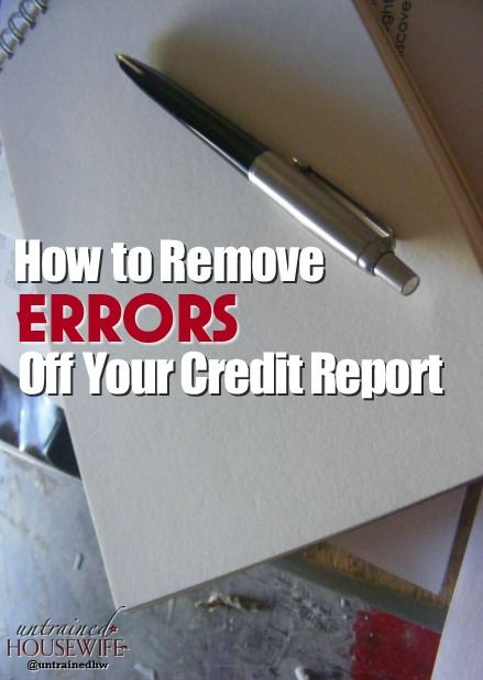 Get False Information Off of A Credit report. You NEED to check this at least once a year!