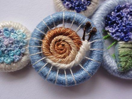 Snail button by Yoko Odaira