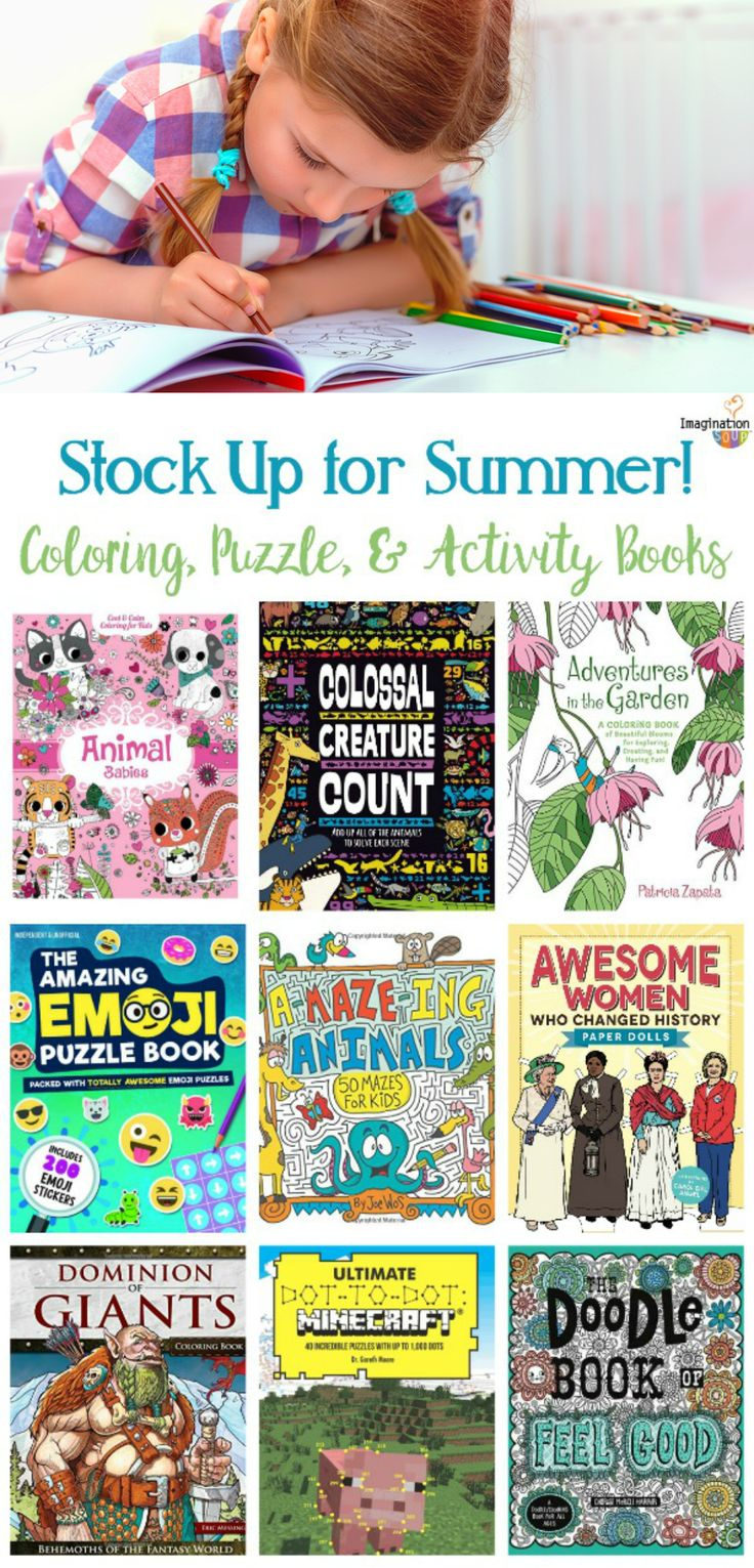Childrens educational coloring activity book - Stock Up On Coloring Puzzle And Activity Books For Kids