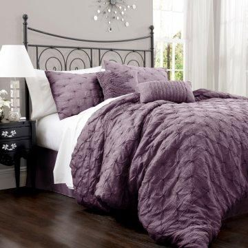 Perfectly plum bedding.