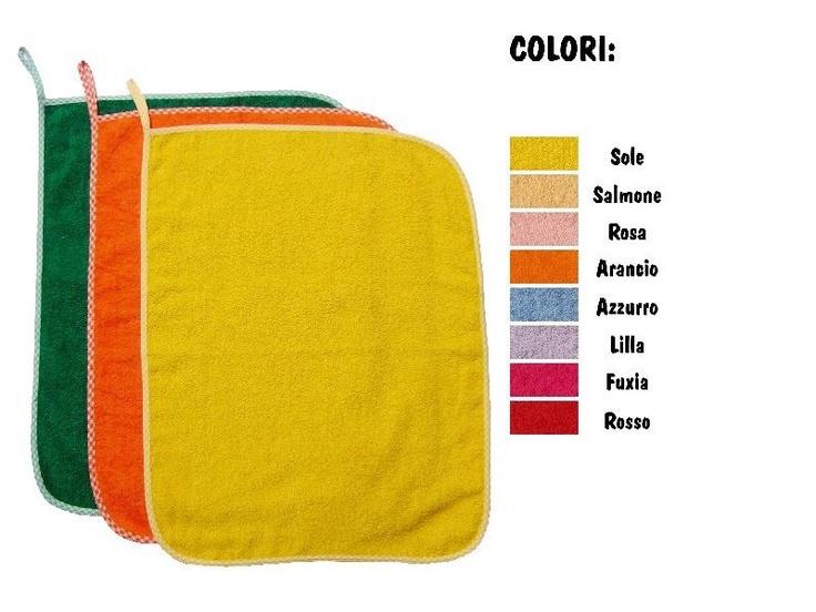 Set asilo 3 Asciugamani con asola di 8 cm per appendere (43 x 54cm) Colori a scelta. Ecco dove trovarli: http://www.coccobaby.com/prodotto/set-asilo/set-completi/971/set-3-asciugamani-colorati