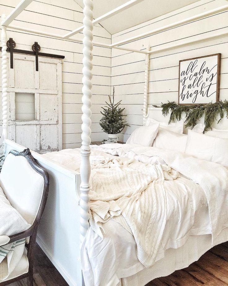 Sliding barn door with window.  Master bed into bath door idea.